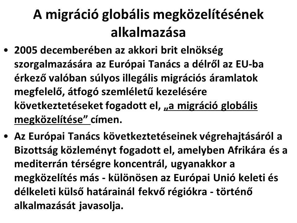 A migráció globális megközelítésének alkalmazása