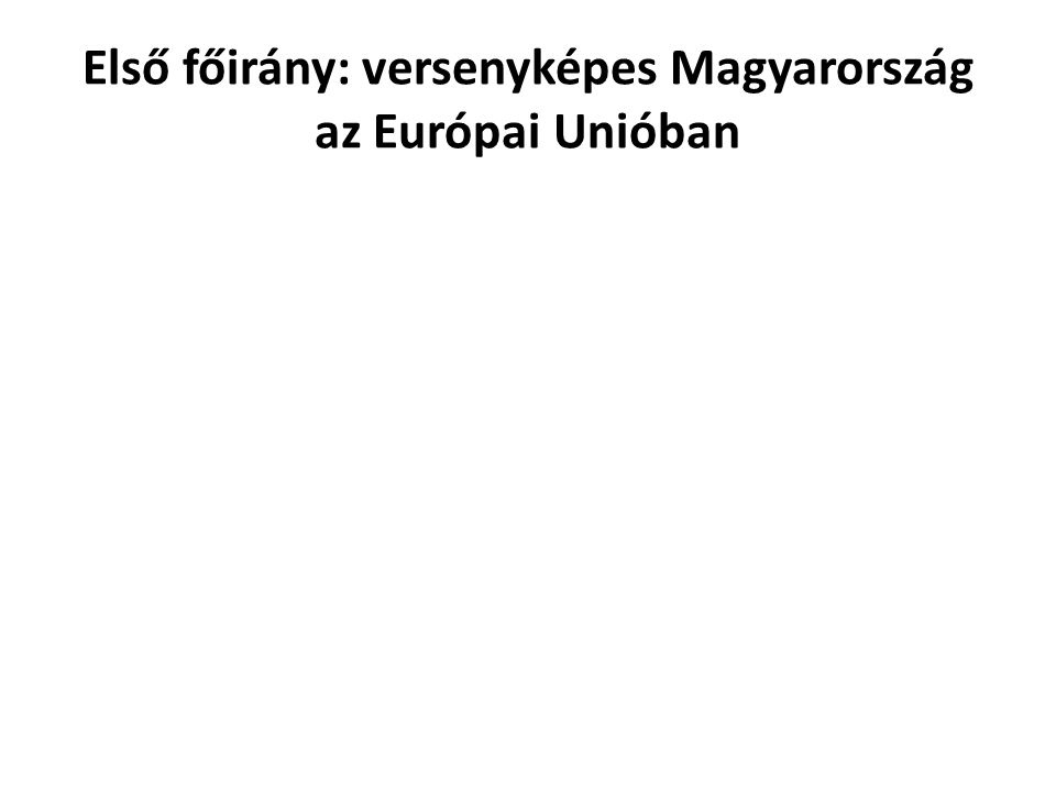 Első főirány: versenyképes Magyarország az Európai Unióban