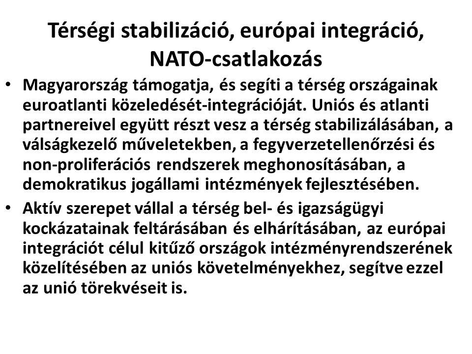 Térségi stabilizáció, európai integráció, NATO-csatlakozás