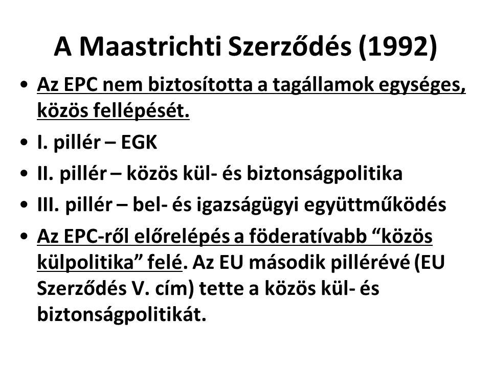 A Maastrichti Szerződés (1992)