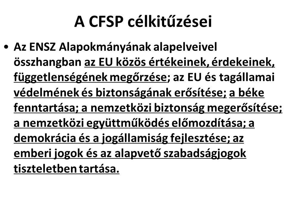 A CFSP célkitűzései