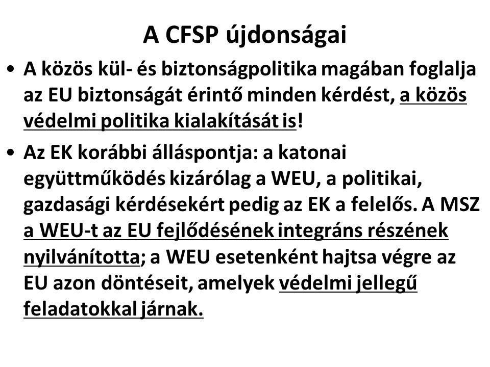 A CFSP újdonságai