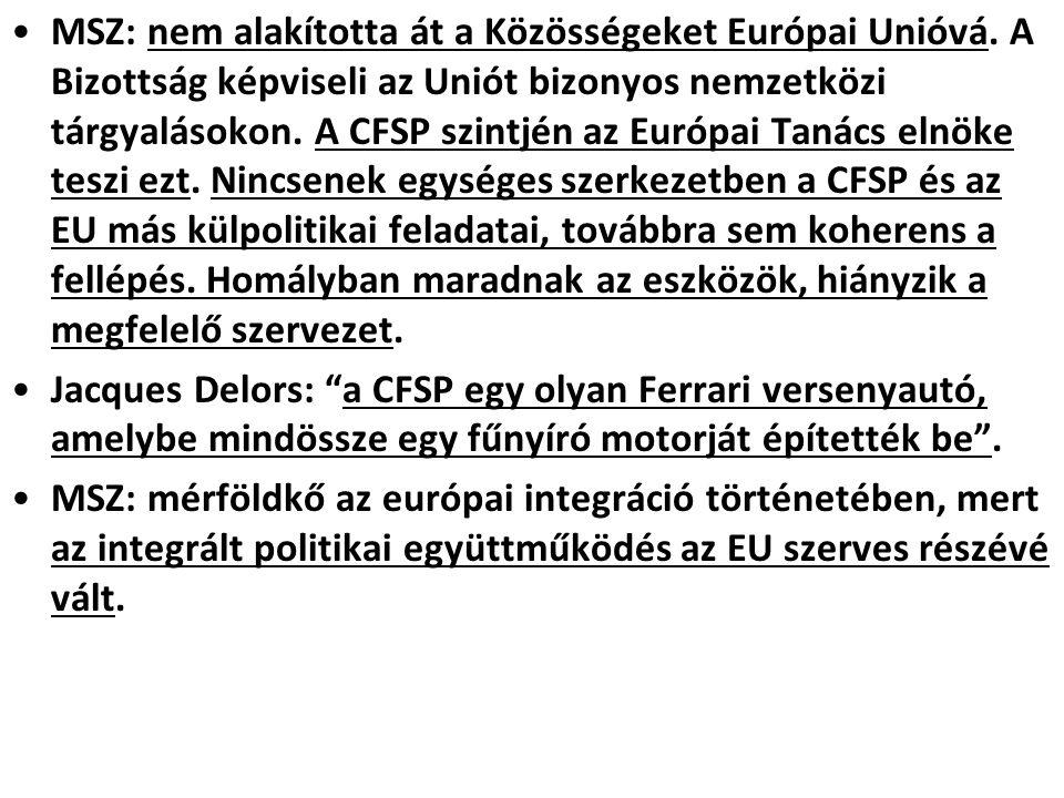 MSZ: nem alakította át a Közösségeket Európai Unióvá