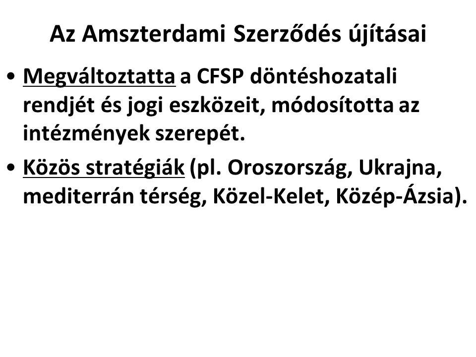 Az Amszterdami Szerződés újításai