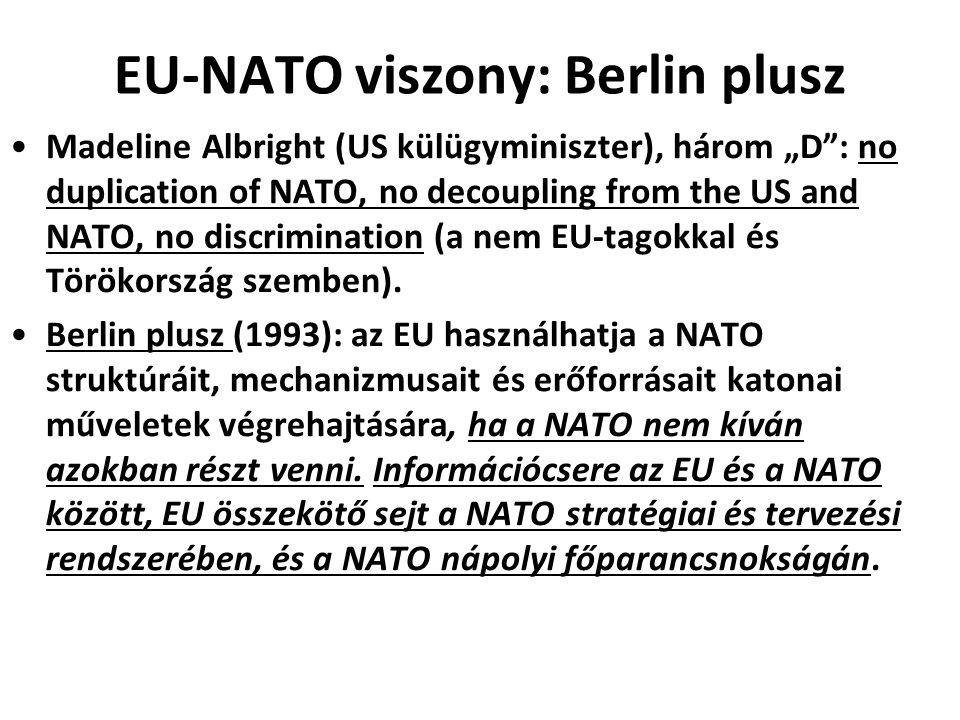 EU-NATO viszony: Berlin plusz