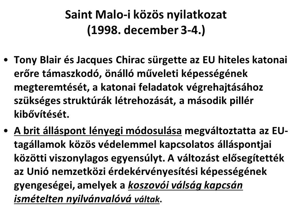 Saint Malo-i közös nyilatkozat (1998. december 3-4.)