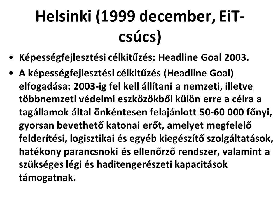 Helsinki (1999 december, EiT-csúcs)