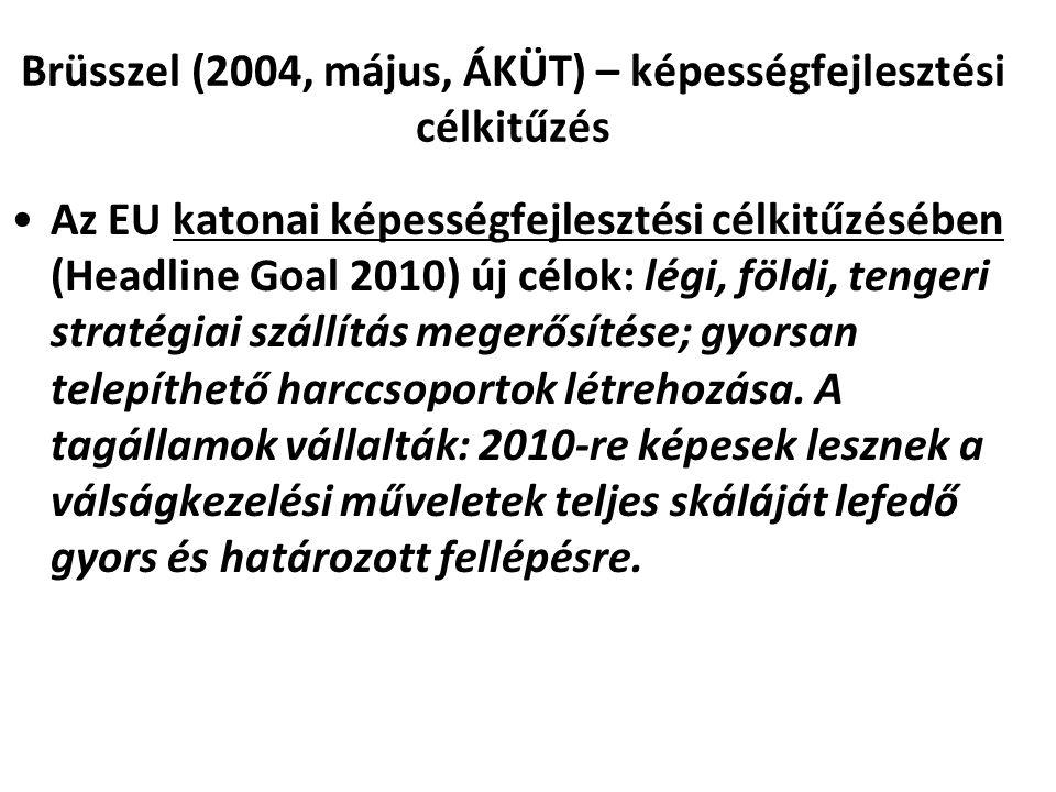 Brüsszel (2004, május, ÁKÜT) – képességfejlesztési célkitűzés