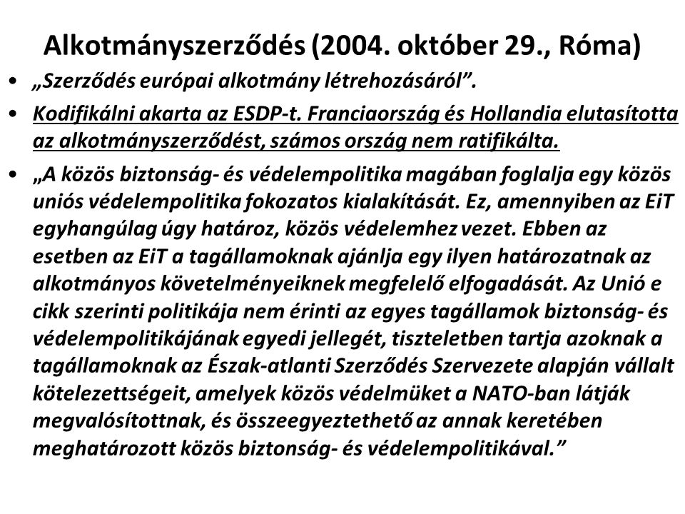 Alkotmányszerződés (2004. október 29., Róma)