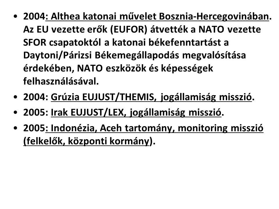 2004: Althea katonai művelet Bosznia-Hercegovinában