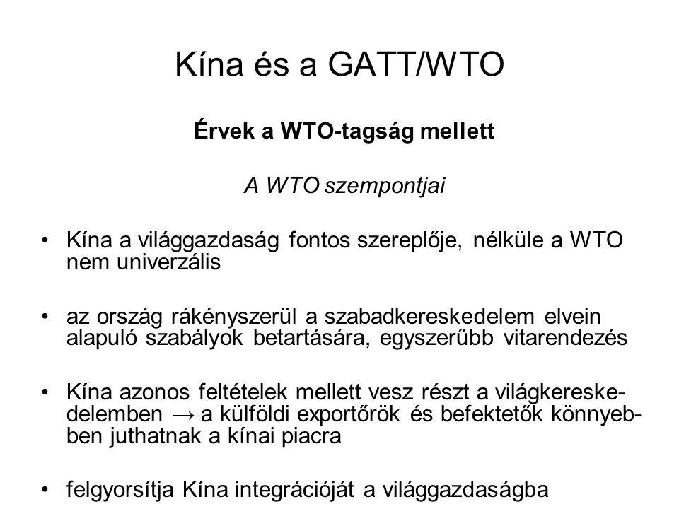 Érvek a WTO-tagság mellett