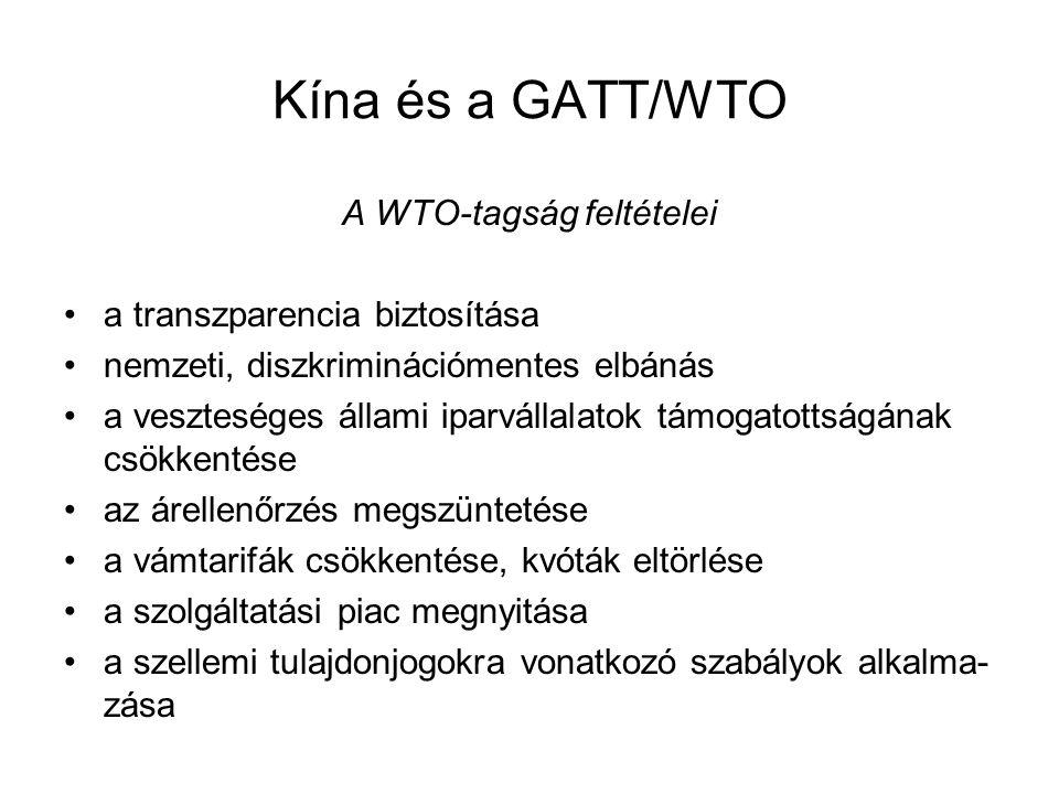 A WTO-tagság feltételei