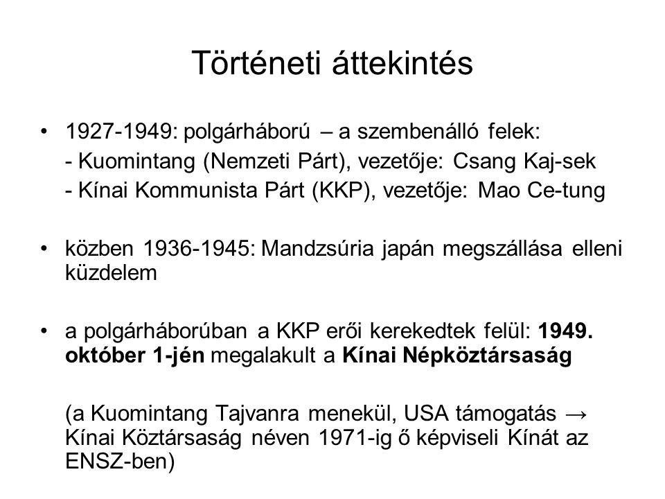 Történeti áttekintés 1927-1949: polgárháború – a szembenálló felek: