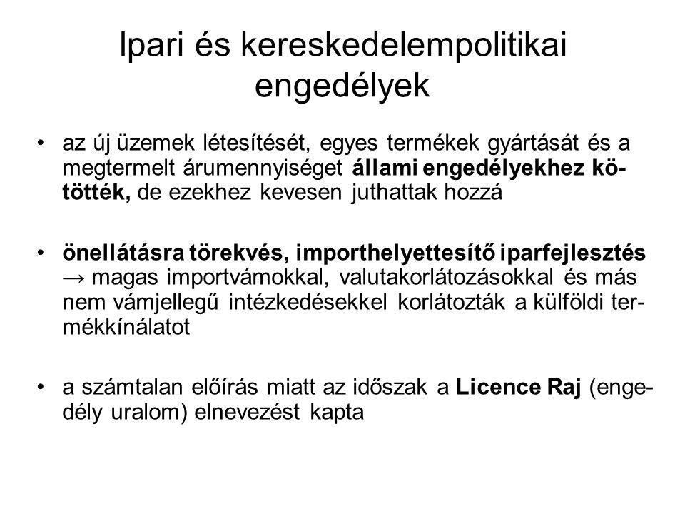 Ipari és kereskedelempolitikai engedélyek