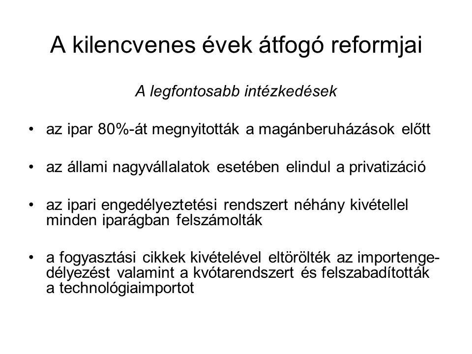 A kilencvenes évek átfogó reformjai