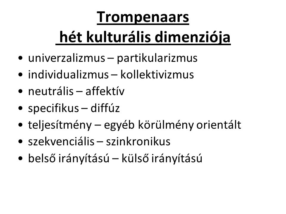 Trompenaars hét kulturális dimenziója