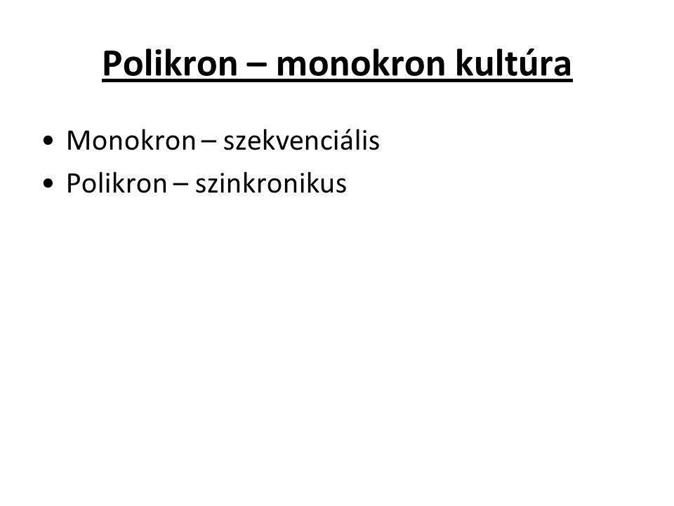 Polikron – monokron kultúra