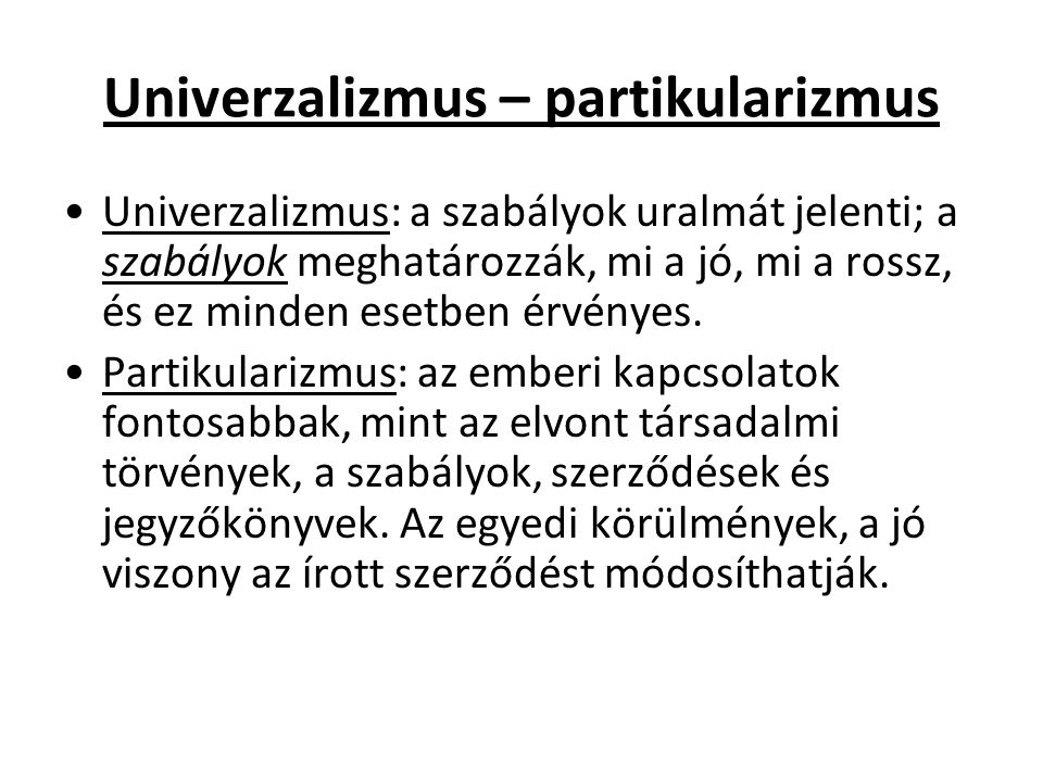 Univerzalizmus – partikularizmus