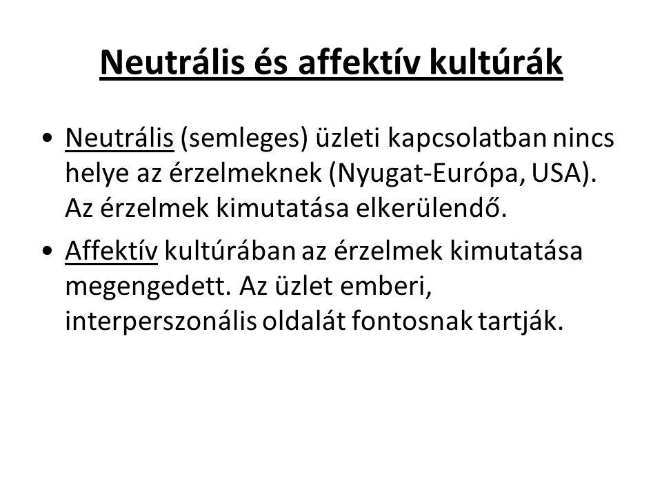 Neutrális és affektív kultúrák