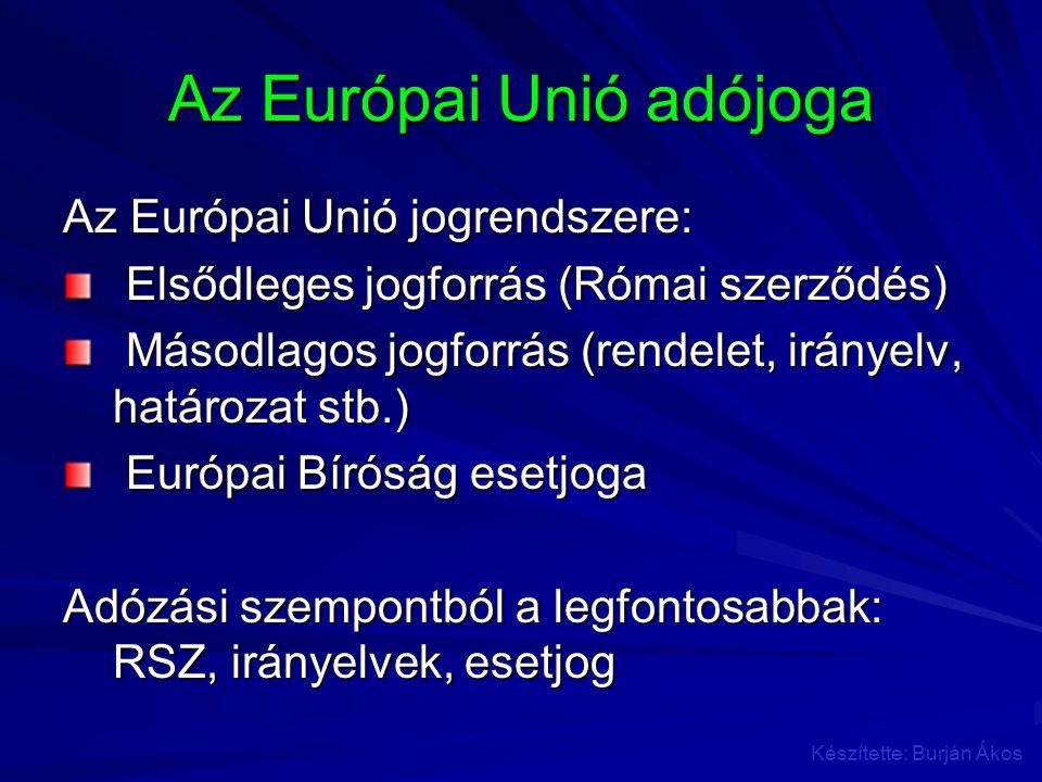 Az Európai Unió adójoga