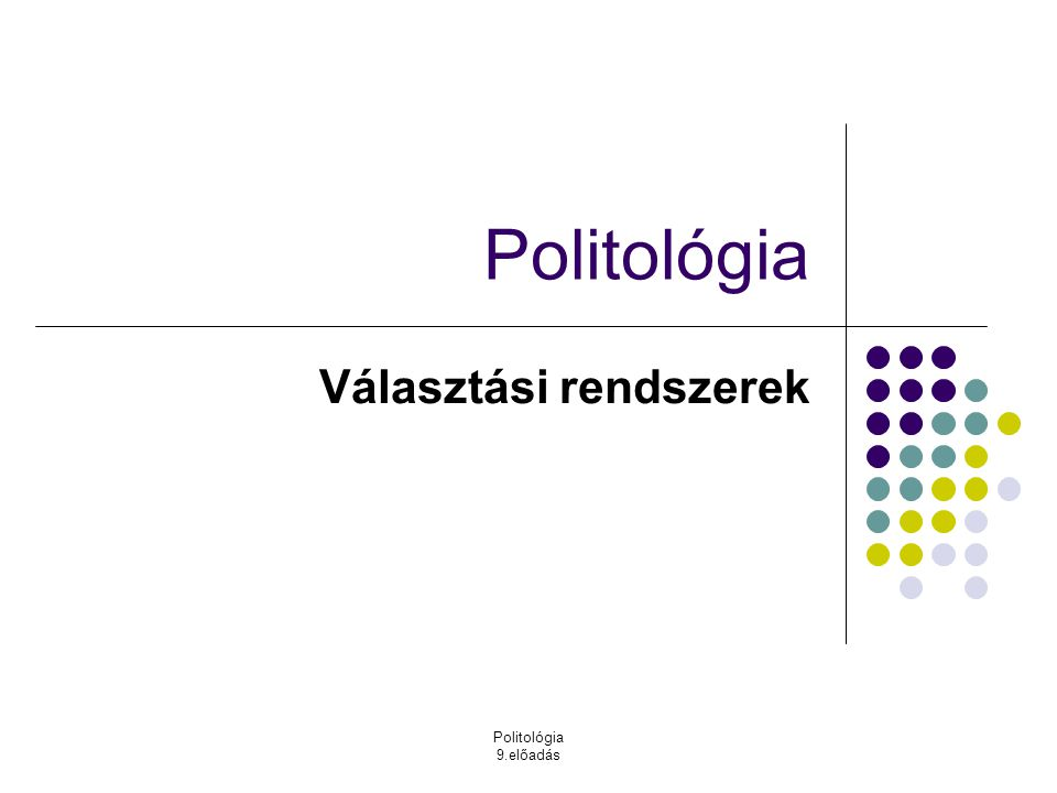 Választási rendszerek