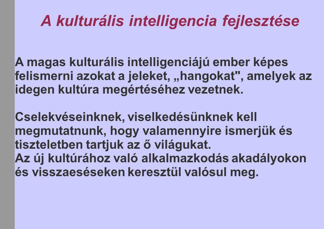 A kulturális intelligencia fejlesztése