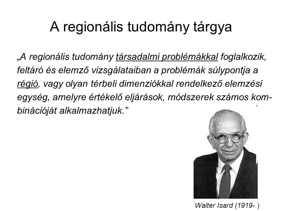 A regionális tudomány tárgya