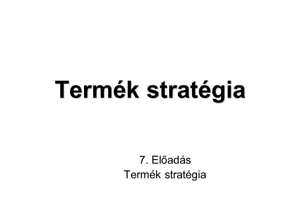 7. Előadás Termék stratégia
