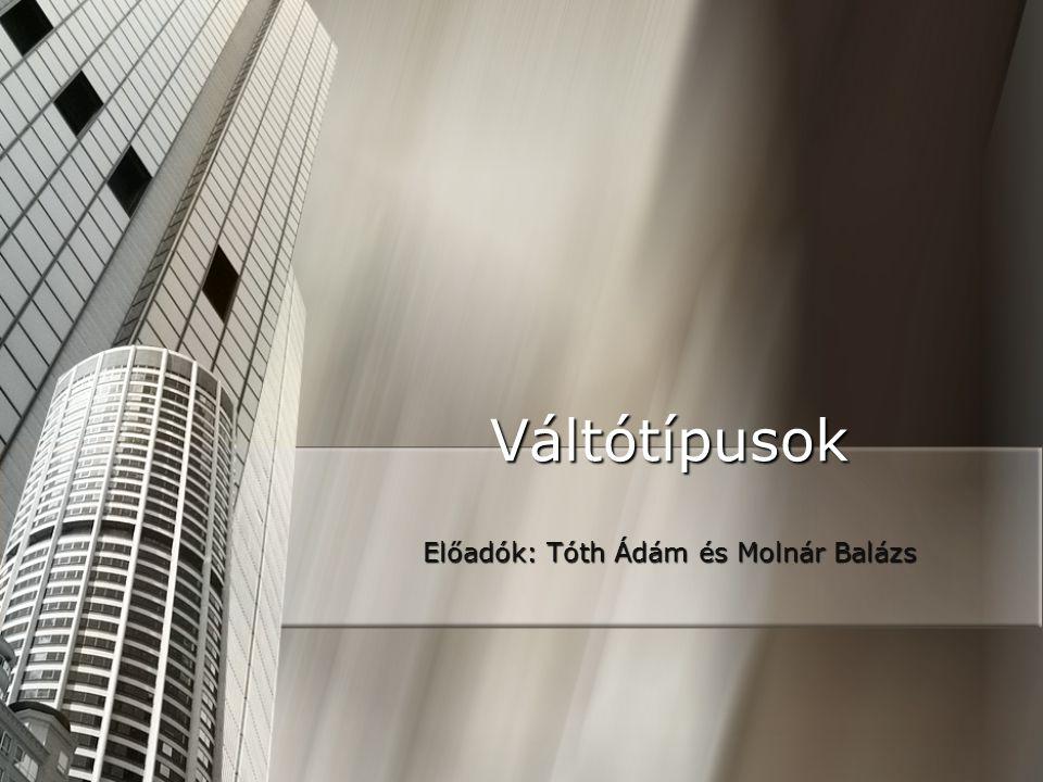 Előadók: Tóth Ádám és Molnár Balázs