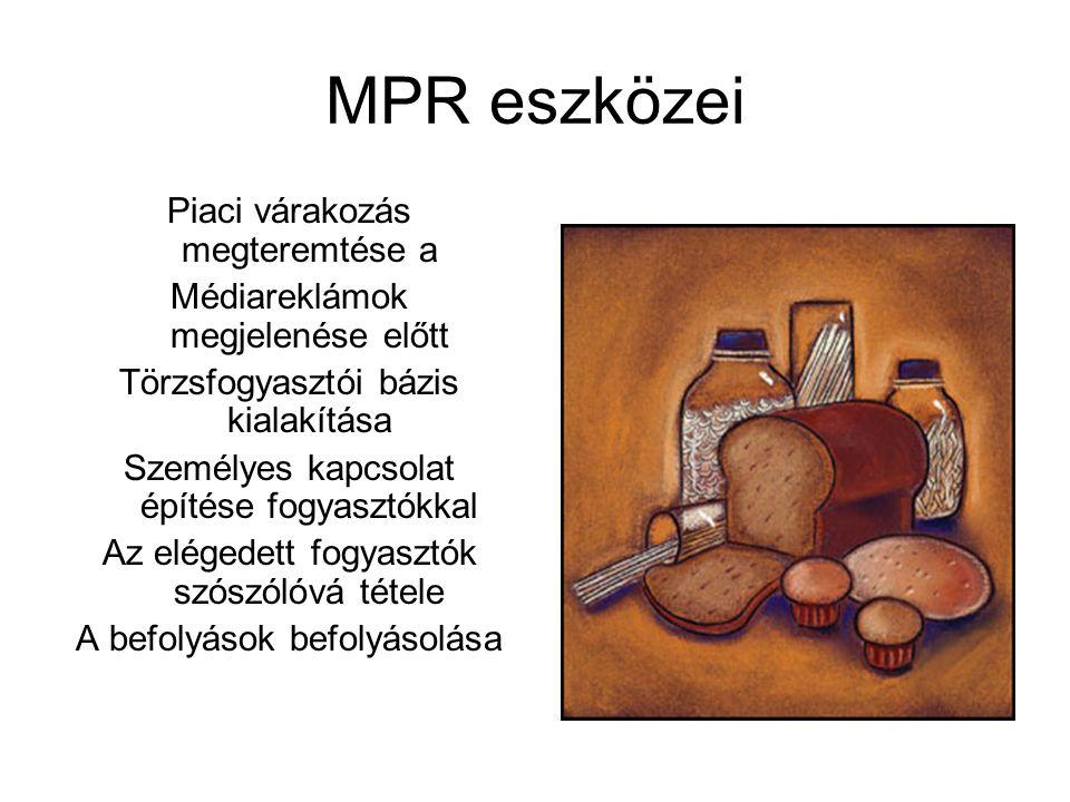 MPR eszközei Piaci várakozás megteremtése a