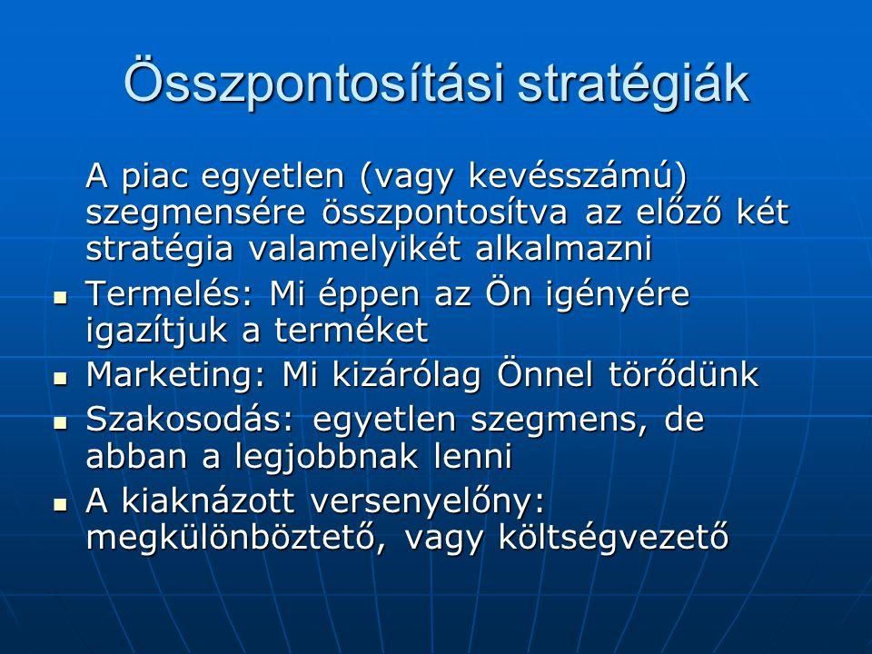 Összpontosítási stratégiák
