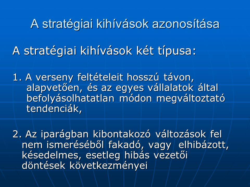 A stratégiai kihívások azonosítása