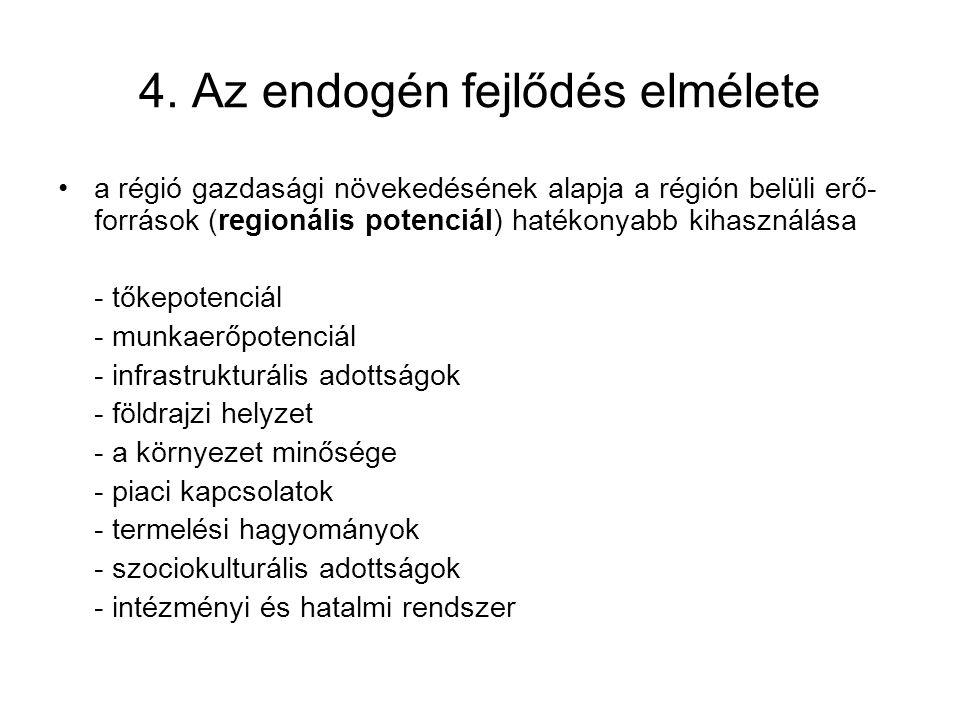 4. Az endogén fejlődés elmélete