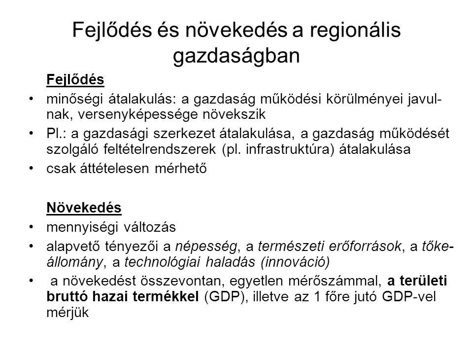 Fejlődés és növekedés a regionális gazdaságban