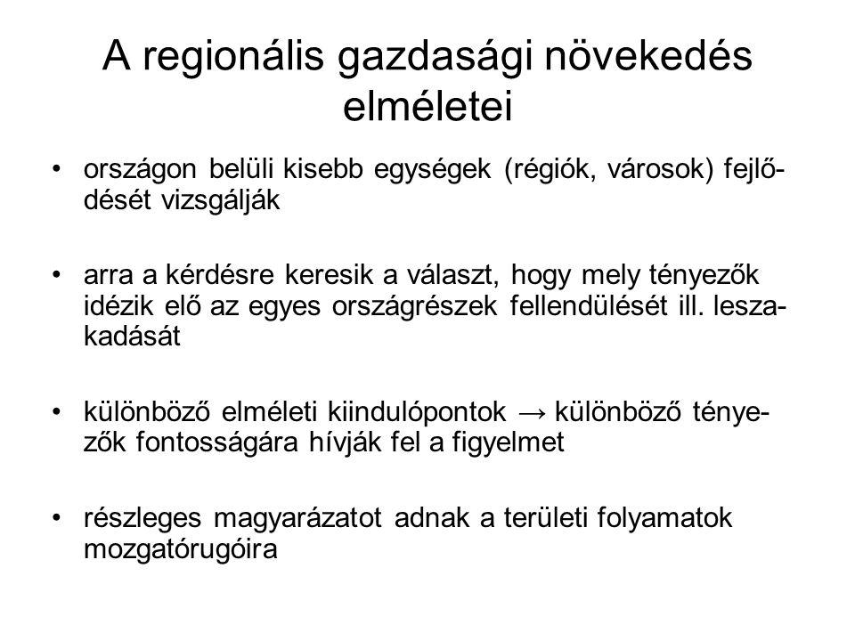 A regionális gazdasági növekedés elméletei