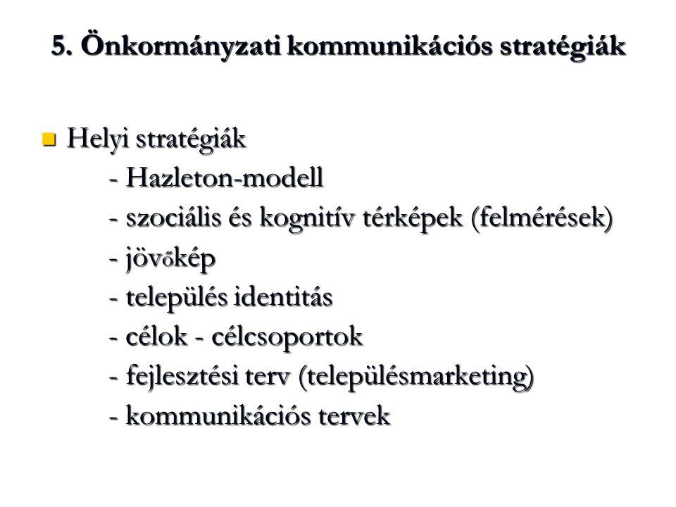 5. Önkormányzati kommunikációs stratégiák