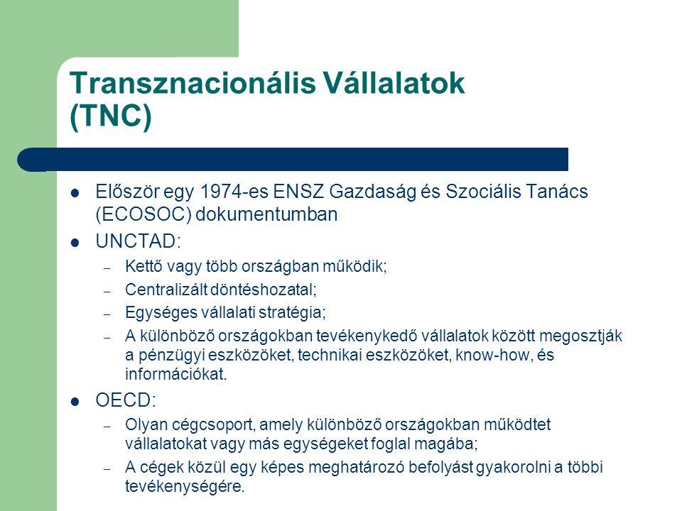 Transznacionális Vállalatok (TNC)