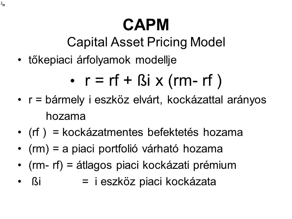 CAPM Capital Asset Pricing Model