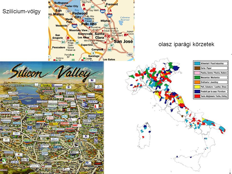 Szilícium-völgy olasz iparági körzetek