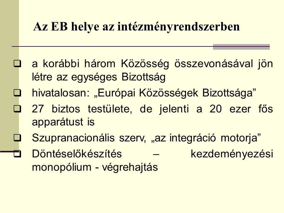 Az EB helye az intézményrendszerben