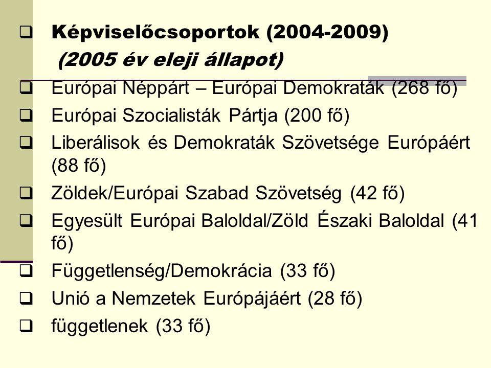 Képviselőcsoportok (2004-2009)