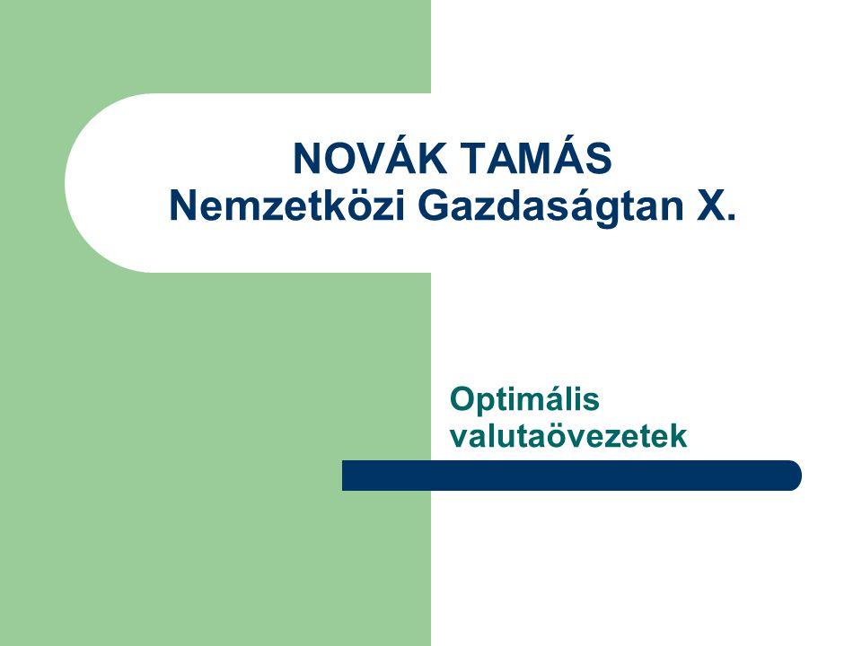 NOVÁK TAMÁS Nemzetközi Gazdaságtan X.