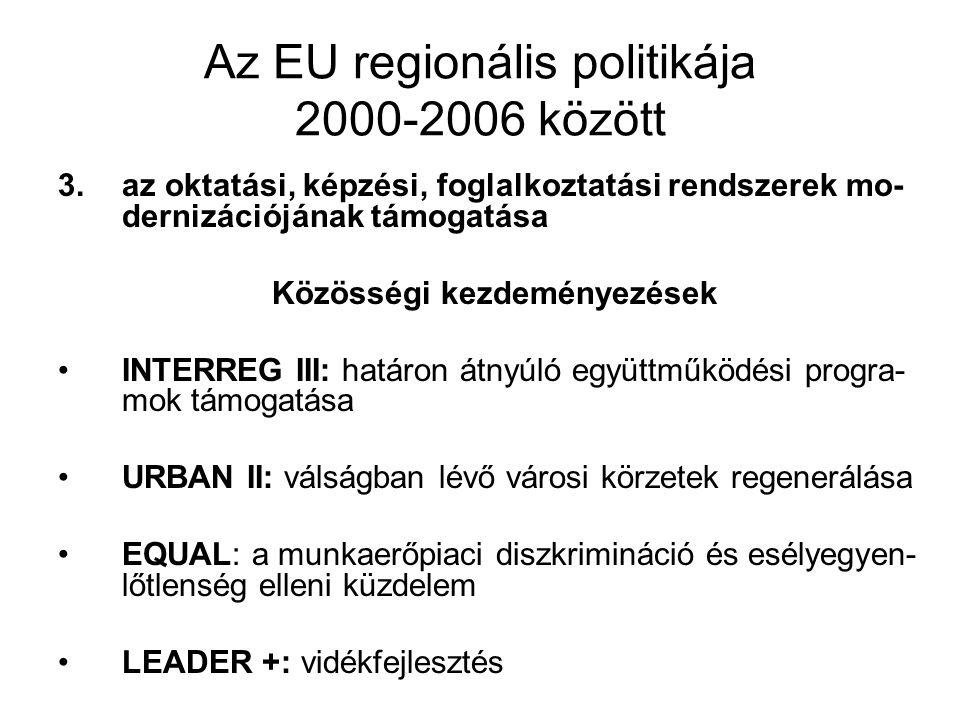 Az EU regionális politikája 2000-2006 között