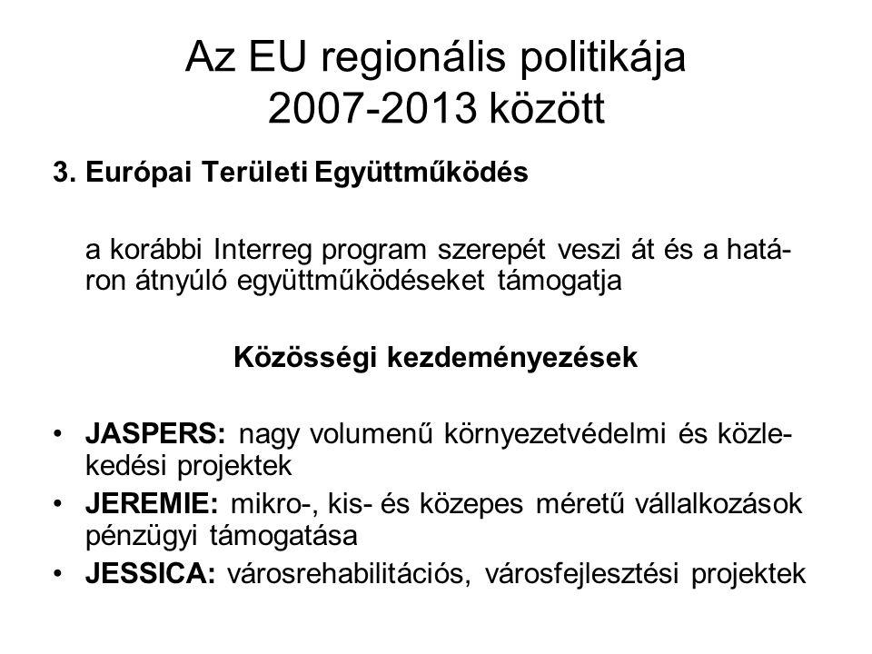 Az EU regionális politikája 2007-2013 között