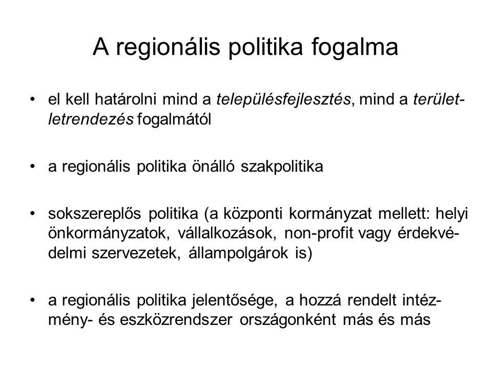 A regionális politika fogalma