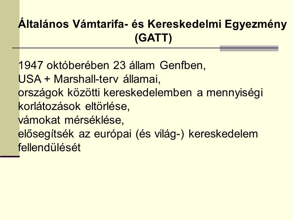 Általános Vámtarifa- és Kereskedelmi Egyezmény