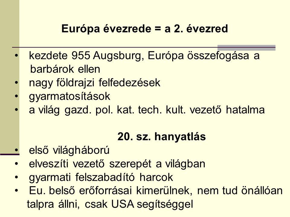 Európa évezrede = a 2. évezred