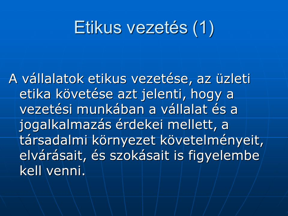 Etikus vezetés (1)
