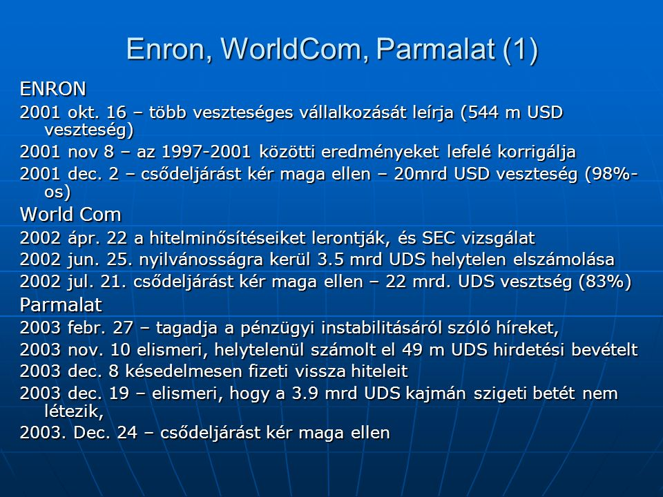 Enron, WorldCom, Parmalat (1)