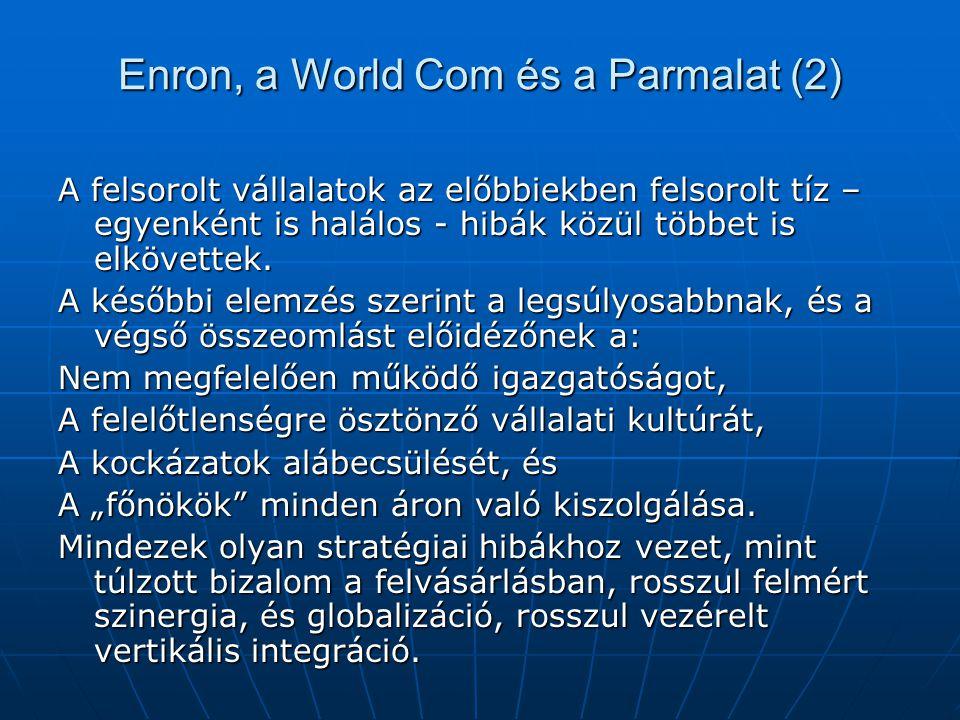Enron, a World Com és a Parmalat (2)